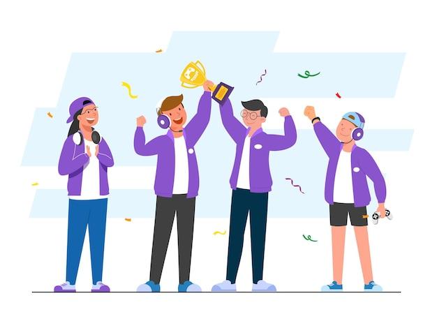 E-sportowe zawody roku trofea i nagrody pieniężne czekają na e-sportowców, jeśli zdołają wygrać z przeciwną drużyną