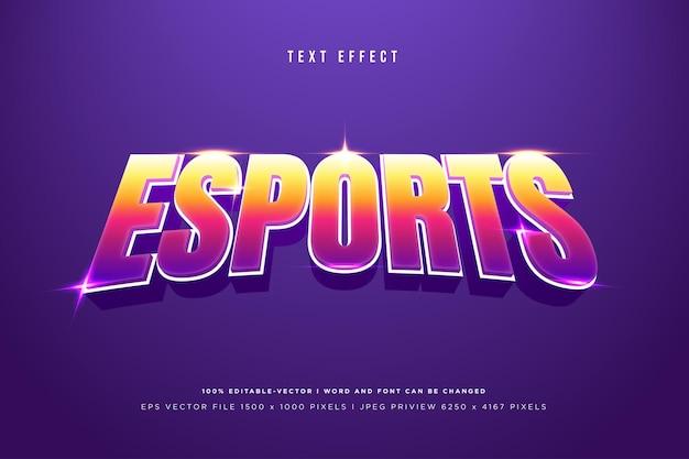 E-sportowy efekt tekstowy 3d na fioletowo