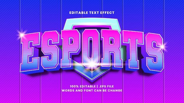 E-sportowy efekt tekstowy do edycji w nowoczesnym stylu 3d