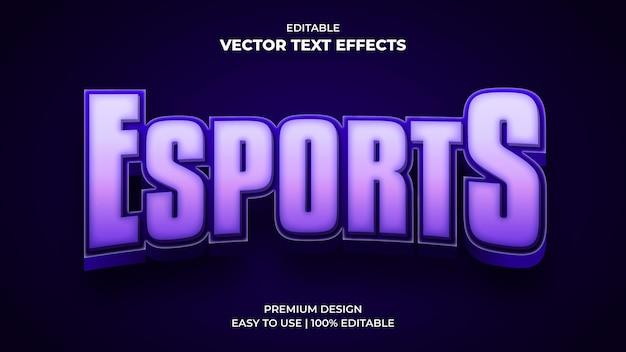 E-sportowy efekt tekstowy
