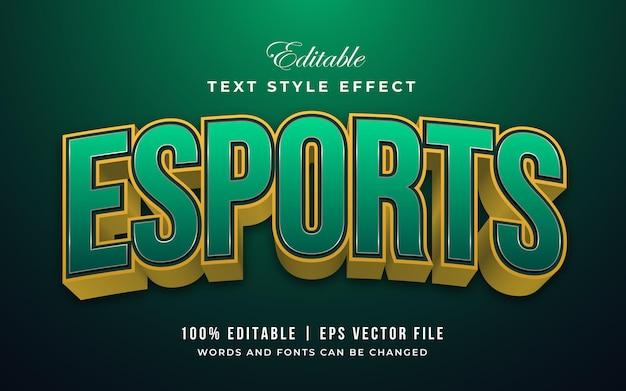 E-sportowy zielony i złoty efekt tekstowy do edycji