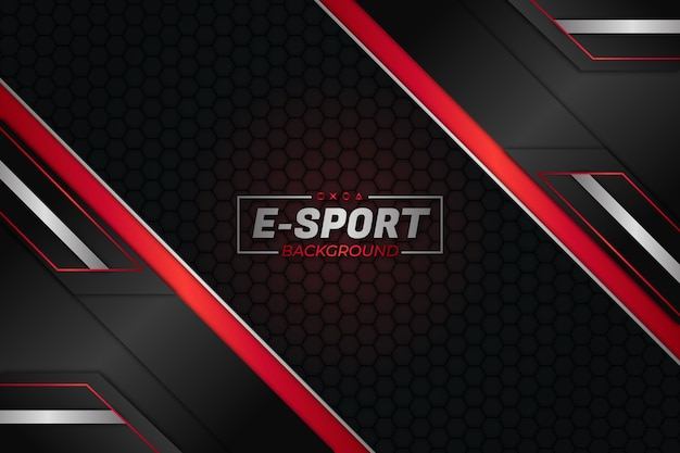 E sports background dark and red style