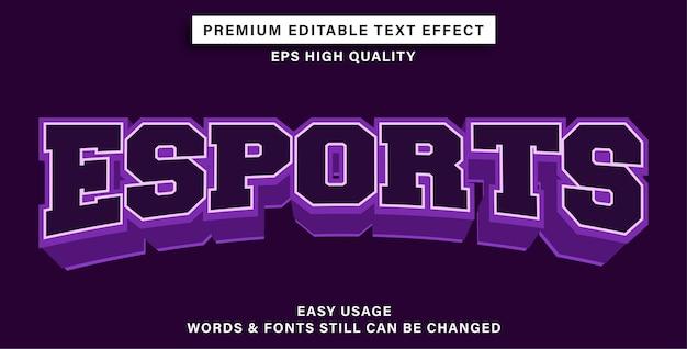 E-sporty z edytowalnymi efektami tekstowymi