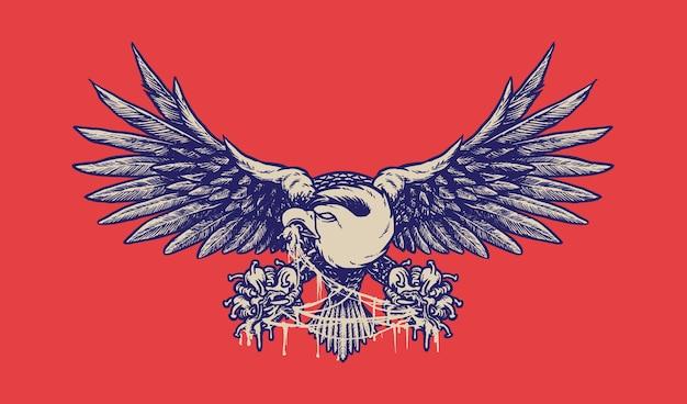 Eagle destroying corona virus