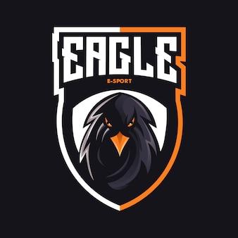 Eagle e-sport maskotka logo design wektor