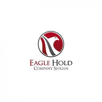 Eagle logo firmy szablonu