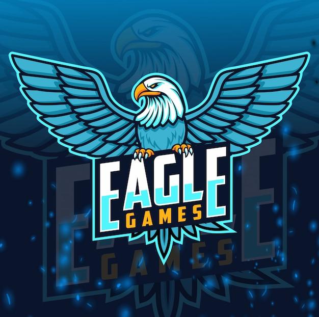 Eagle maskotka logo e-sportu
