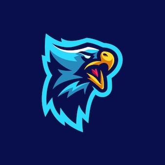 Eagle sports tournament wektorowy ilustracyjny szablon
