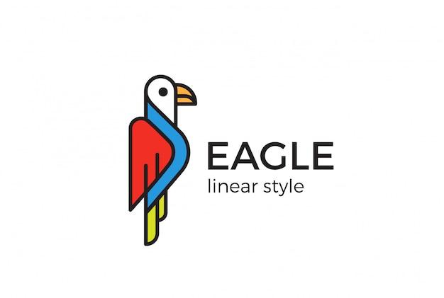 Eaglelogo styl liniowy