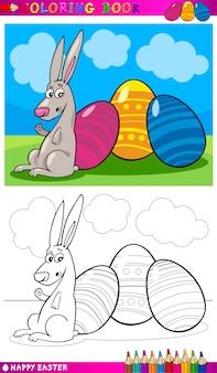 Easter bunny cartoon do kolorowania