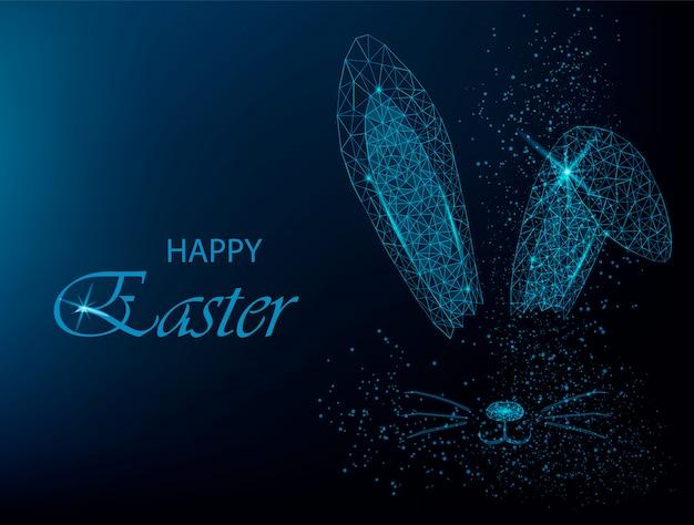Easter bunny uszy. wieloboczne uszy królika