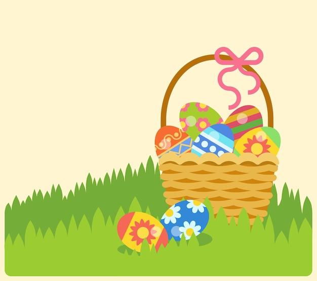 Easter bunny zajączek zbiór ikon wielkanocnych