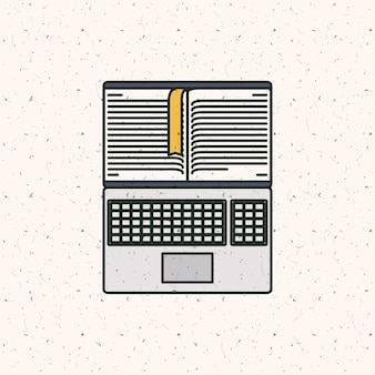 Ebook download and laptop icon