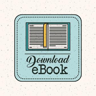 Ebook pobierz wewnątrz ramki ikona