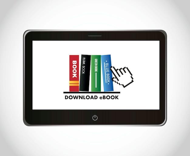 Ebook ściąganie nad szarą tło wektoru ilustracją