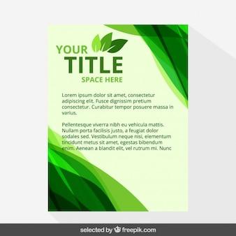 Eco broszura szablon z falami
