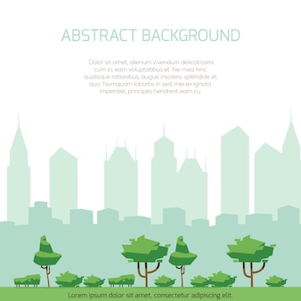 Eco city concept background