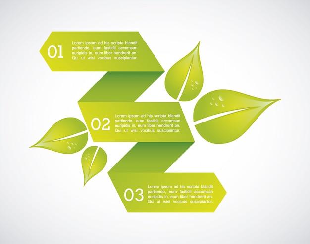 Eco infografiki na szarym tle ilustracji wektorowych
