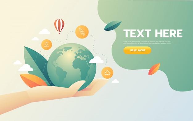Eco przyjazny dla biznesu uratuj naturę, ekologię