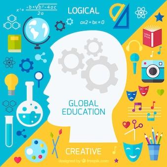 Edukacja globalna w tle