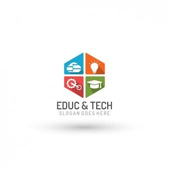 Edukacja i technologia szablon logo