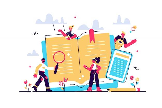 Edukacja koncepcyjna, szkolenie online, nauka w internecie, książka online, tutoriale, e-learning dla mediów społecznościowych, dokumenty, karty, plakaty. edukacja na odległość ilustracja edukacja online