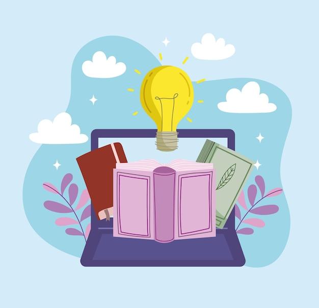 Edukacja o laptopach i książkach