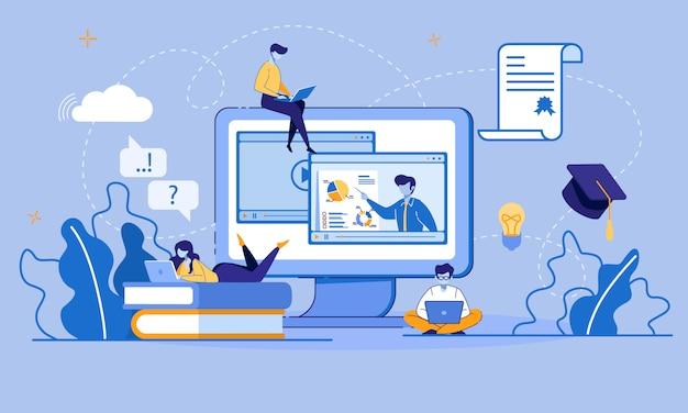 Edukacja online i e-learning za pośrednictwem urządzenia cyfrowego