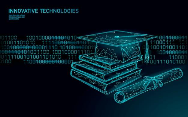 Edukacja online koncepcja biznesowa technologii 3d. kursy umiejętności szkolenia e-learningowego.