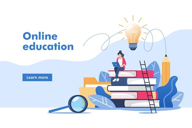 Edukacja online lub szkolenie biznesowe.