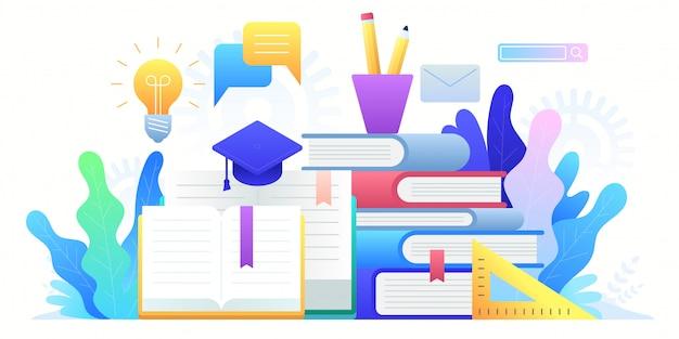 Edukacja online, szkolenia, kształcenie na odległość i edukacja globalna.
