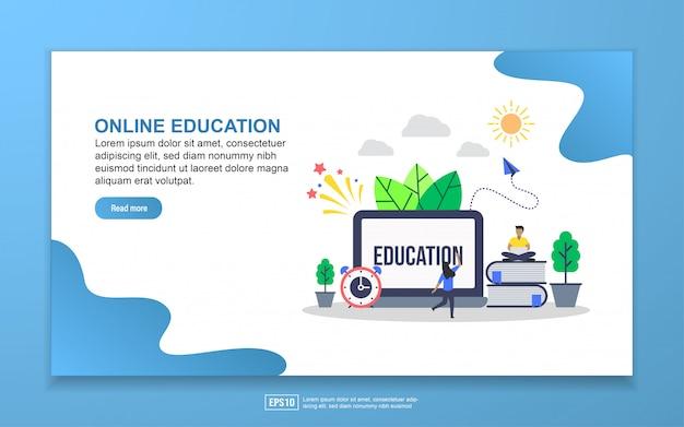 Edukacja online za pomocą strony docelowej dla małych postaci