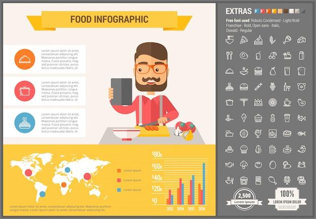 Edukacja płaski kształt infographic szablon i ikony ustaw