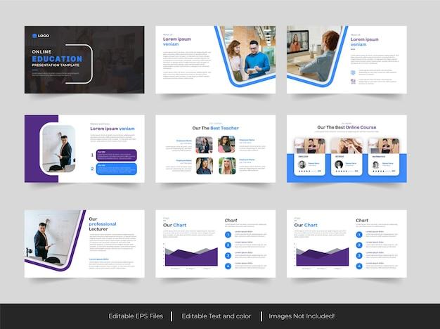 Edukacja prezentacja slajdu tamplate design