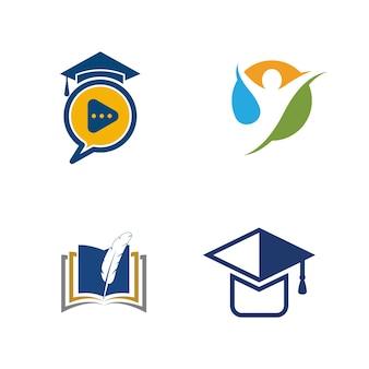 Edukacja szablon wektor ikona ilustracja projekt