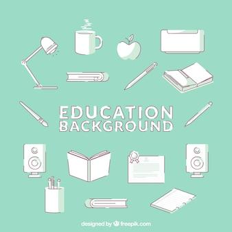 Edukacja tło w stylu płaski