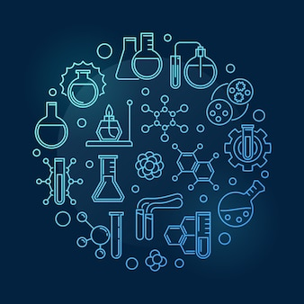 Edukacja zarys ikony chemii