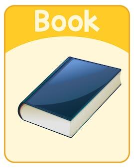 Edukacyjna angielska karta słowna książki