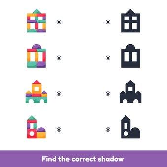 Edukacyjna gra logiczna dla dzieci. gra planszowa domino. klocki dla dzieci.