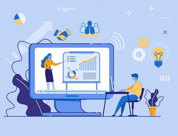 Edukacyjny samouczek wideo, seminarium internetowe, internet