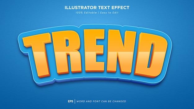 Edytowalna czcionka efektu tekstu trendu