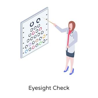 Edytowalna ilustracja izometryczna wzroku