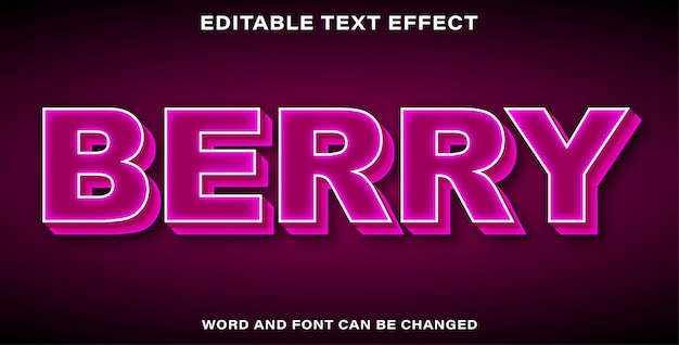 Edytowalna jagoda efektu tekstu