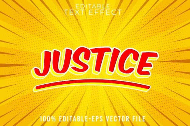 Edytowalna sprawiedliwość efektu tekstowego w super komiksowym stylu