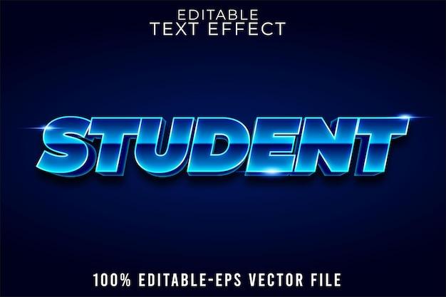 Edytowalna szkoła studencka z efektem tekstu w stylu retro z powrotem do szkoły