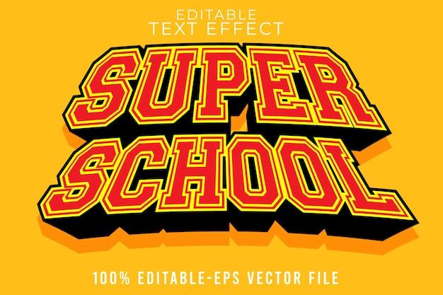 Edytowalna szkoła z efektem tekstowym z prostym nowoczesnym stylem szkolnym