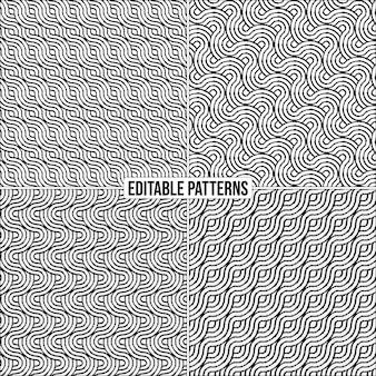 Edytowalne dekoracyjne stylowe tło wzór wektorowy