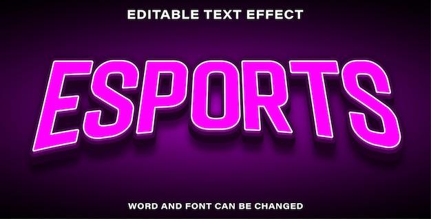 Edytowalne e-sporty z efektami tekstowymi programu illustrator