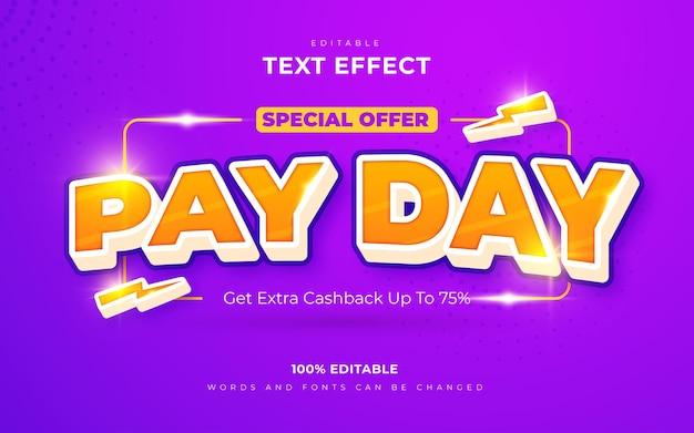 Edytowalne efekty tekstowe dnia wypłaty
