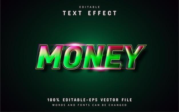 Edytowalne efekty tekstowe dotyczące pieniędzy